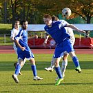 V utkání fotbalistů Litomyšle (v bílém) a Žamberka se diváci dočkali gólů až v penaltovém rozstřelu.