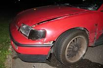 Opilý řidič nerespektoval kruhový objezd.