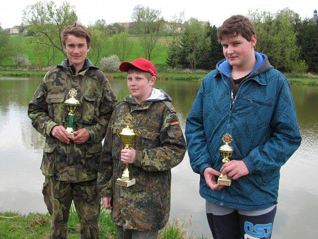 V kategorii mládeže byli v Křenově nejúspěšnější Petr Kolář, Vojtěch Hofman a Tomáš Jurina (zleva).