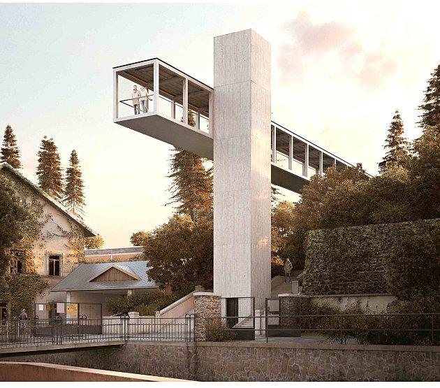 Projekt modernizace nadchodu nad I/35 u polikliniky.