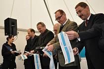 Slavnostní otevření obchvatu v Opatově.