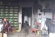 Hasiči likvidovali požár kotelny