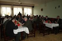 Výroční jednání Mysliveckého sdružení Hék v Jaroměřicích u Jevíčka,