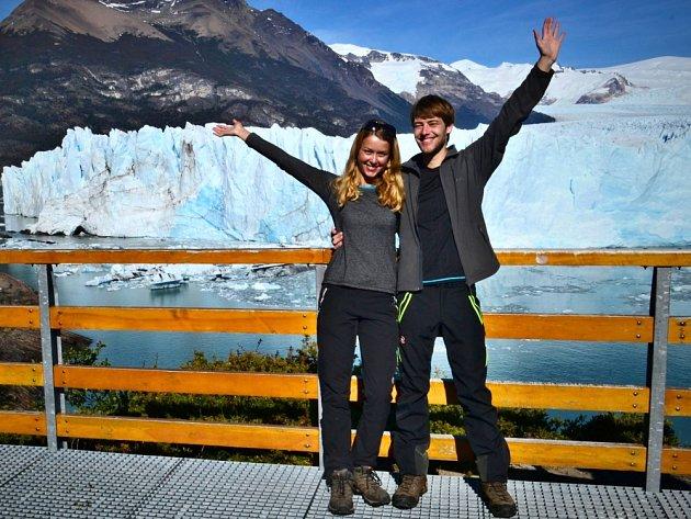 JANA HARUŠŤÁKOVÁ se svým přítelem Martinem při cestování po Jižní Americe.
