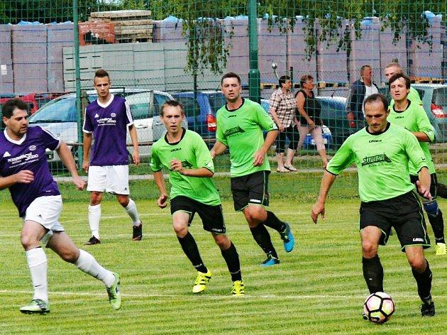 Z utkání Sokol Morašice vs. TJ Jaroměřice (2:0).