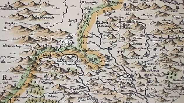 Komenského mapa Moravy.