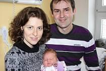 ELENA ČERMÁKOVÁ. Lenka a Michal z Kunčiny mají od 13. února první dcerku. Narodila se ve 14.14 hodin ve Svitavách. Sestřičky holčičce naměřily 52 centimetrů a navážily 4,15 kilogramu. Statečný tatínek asistoval u porodu.