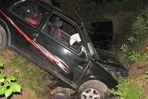 Nehoda osobního automobilu u Svojanova