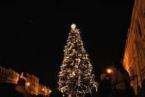 Rozsvícení vánočního stromu v Litomyšli.