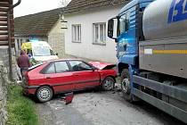 Nehoda v Chrastavci. Nehoda na silnici z Litomyšle do Poličky.