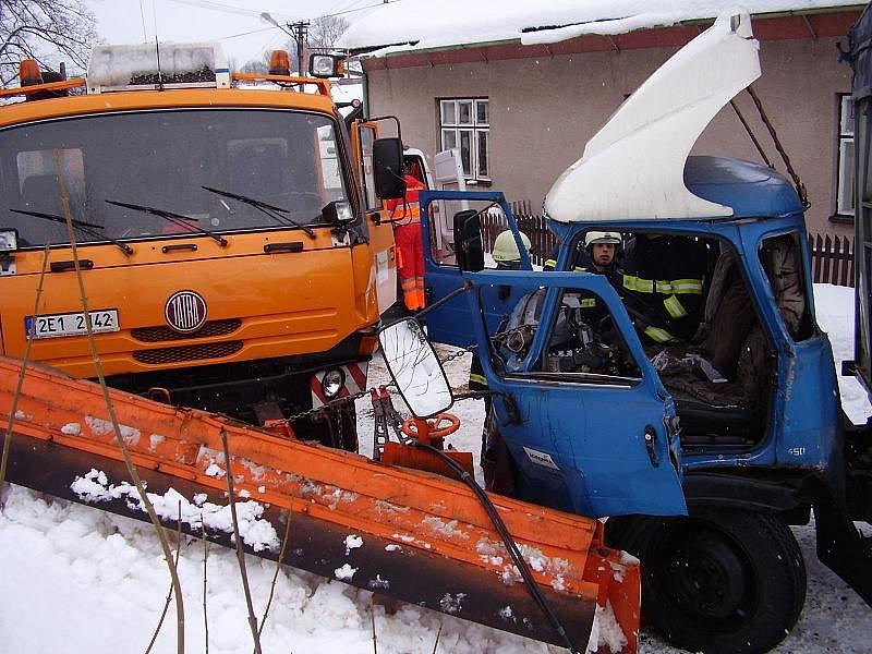 Nehoda v Hartmanicích v roce 2009.