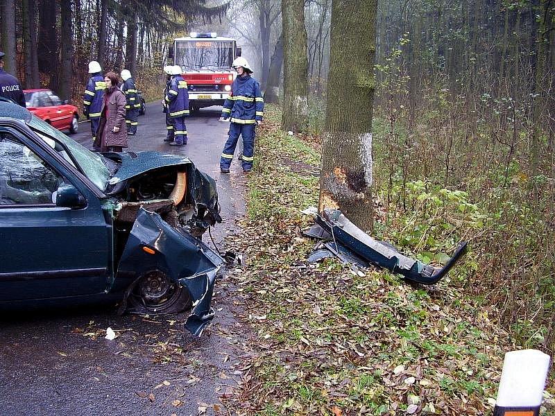 Nehoda v Jedlové  v roce 2008.