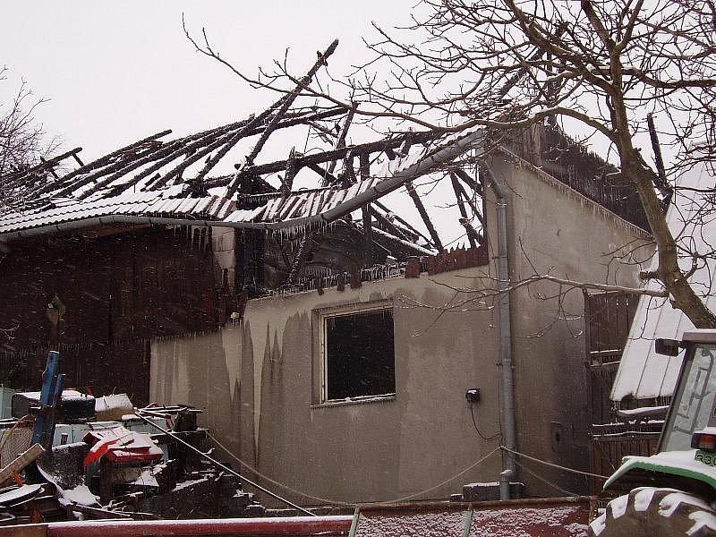 Požár bramborárny v Nyklovicích 2009.