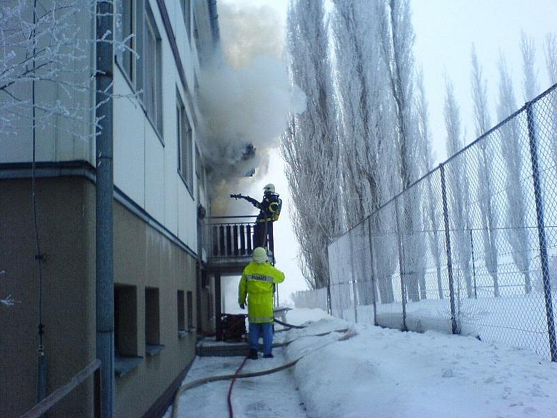 Požár bytové jednotky 2006.