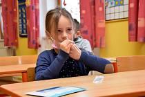 Testování dětí v Základní škole v Dolním Újezdu u Litomyšle