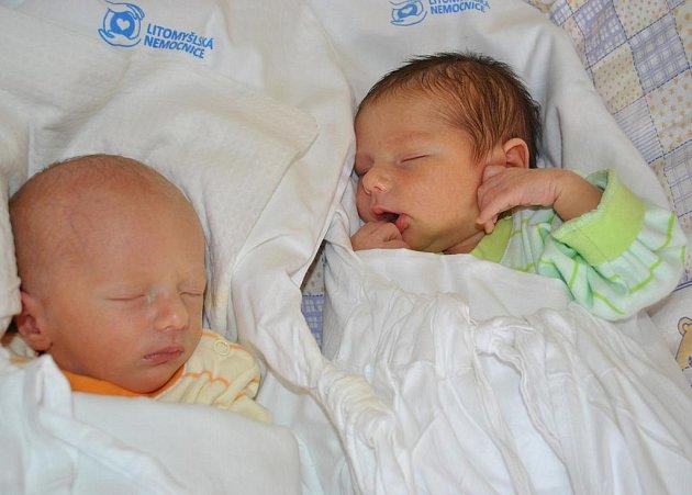 PETR A PAVEL.  Krásná dvojčátka  se narodila   v Litomyšlské  nemocnici, a to v pátek 2. července  rodičům Zuzaně  a Petrovi.