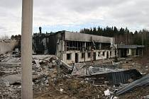 Výrobní hala po výbuchu v Poličských strojírnách