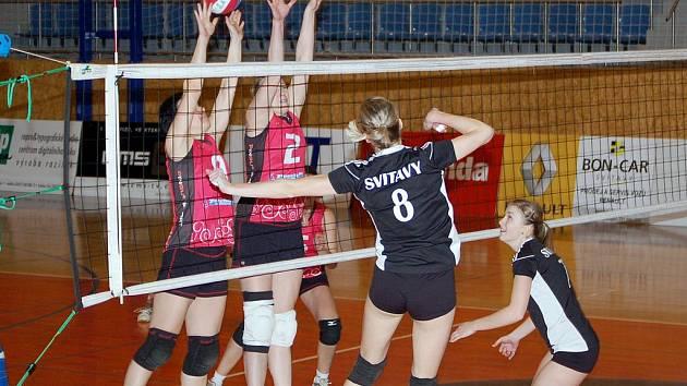 Svitavské volejbalistky opouštějí druhou ligu. V zápasech poslední naděje proti Přerovu B dvakrát prohrály.