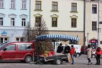 Na náměstí v Moravské Třebové se vrátily v pondělí 12. dubna farmářské trhy.