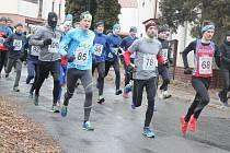 Vánoční běh v Němčicích u Litomyšle.