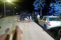 Hasiči zasahovali v úterý v noci u nehody v Hradci nad Svitavou.