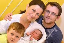 VILÉM CACEK. Narodil 4. listopadu Ivetě Cackové Novotné a Tomáši Cackovi z Borové. Měřil 50 centimetrů a vážil 3,4 kilogramu. Má bráchu Mikuláše.