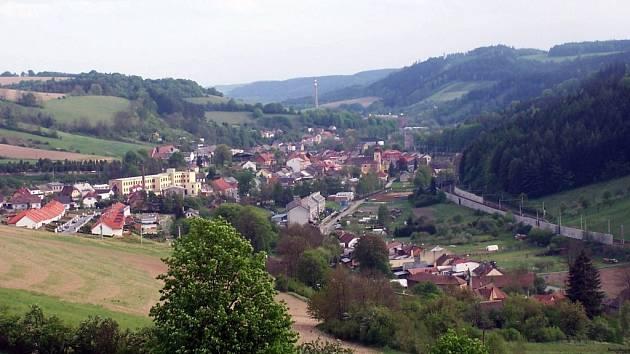 Pohled na Březovou nad Svitavou.