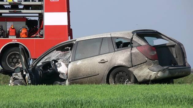 Nehoda na I/35 v pátek 17. dubna.