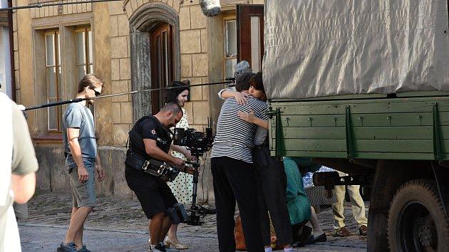 Natáčení závěrečných scén filmu Slovo v Litomyšli.