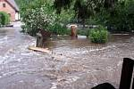 Blesková povodeň v Pusté Rybné.