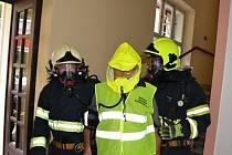 Cvičný požár v Odborném léčebném ústavu Jevíčko