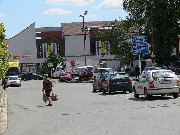 Náměstí v Jevíčku.