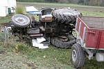 Traktorista připravil část Sádku o plyn.