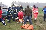Těžká dopravní nehoda na I/35. U Janova přistával vrtulník třikrát.