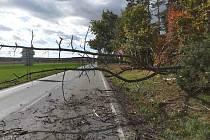 Silný vítr komplikuje dopravu v Pardubickém kraji.
