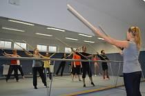 Mime Fest v Poličce. WORKSHOP si užili studenti pantomimy se zakladatelem poličského  festivalu Radimem Vizváry v gymnastickém sálu gymnázia. Zdokonalili se ve výrazové technice mimů.