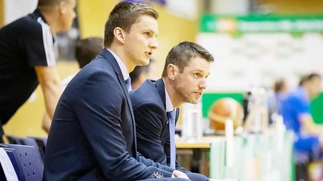 Svitavská trenérská dvojice Lubomír Růžička (vpravo) – Lukáš Pivoda.