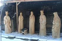 Nový betlém u kostela Boží lásky v Budislavi.