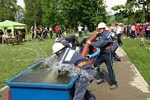 Okrsková soutěž hasičů v Hartmanicích.