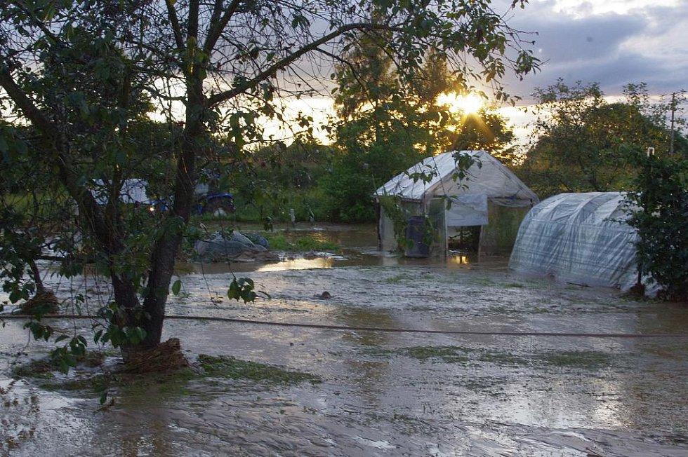 Bleskové povodně zasáhly Svitavy, pondělí 16. srpna 2010.