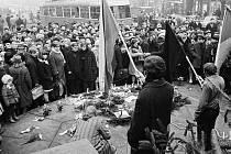 Praha v lednu 1969.