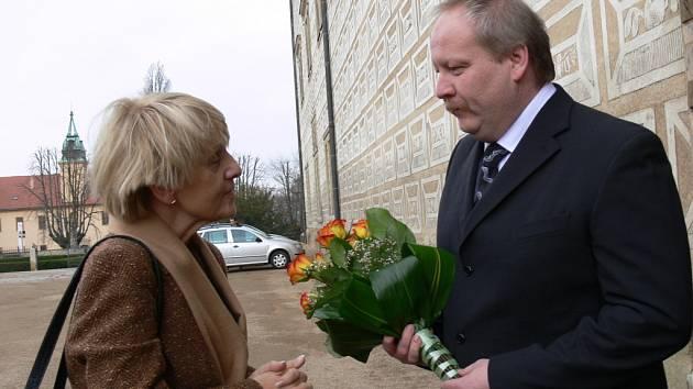 Návštěva evropské komisařky Danuty Hübnerové v Litomyšli.