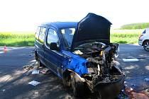 Vážná nehoda na trase Polička Bystré.