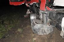 Noční nehoda u Litomyšle na I/35