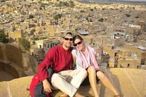 BÁRA A MATĚJ s Jaisalmerem za sebou.