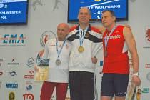 Ivo Strnad na mistrovství Evropy veteránů v atletice.