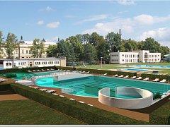 Vizualizace projektu bazénu a koupaliště