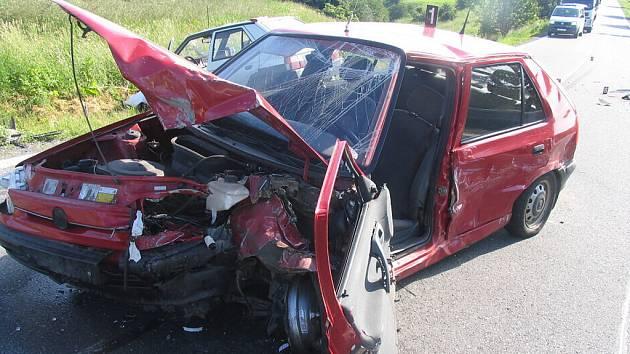 Felicie, jeden z automobilů, které se srazily