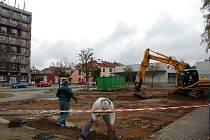 Kompletní rekonstrukce parkoviště u hotelu Opus v Poličce