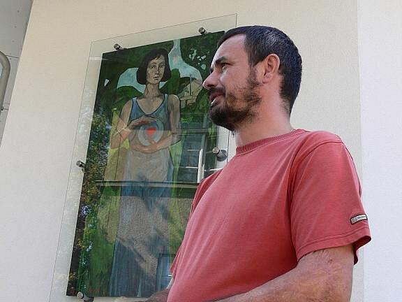 Malíř Sergej Iščuk.
